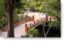 Japanese Garden Bridge background