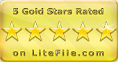 LiteFile - 5 Gold Stars Rated!