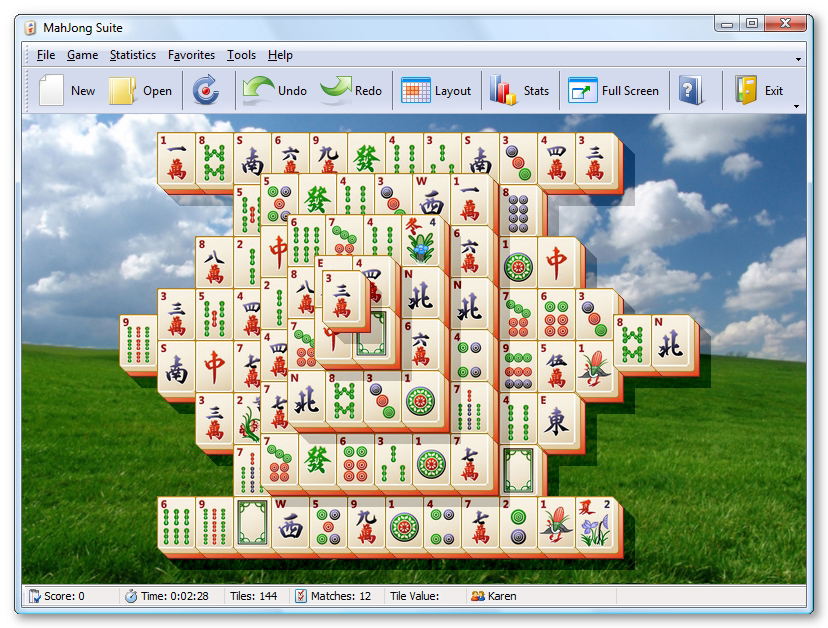 Screenshot vom Programm: MahJong Suite