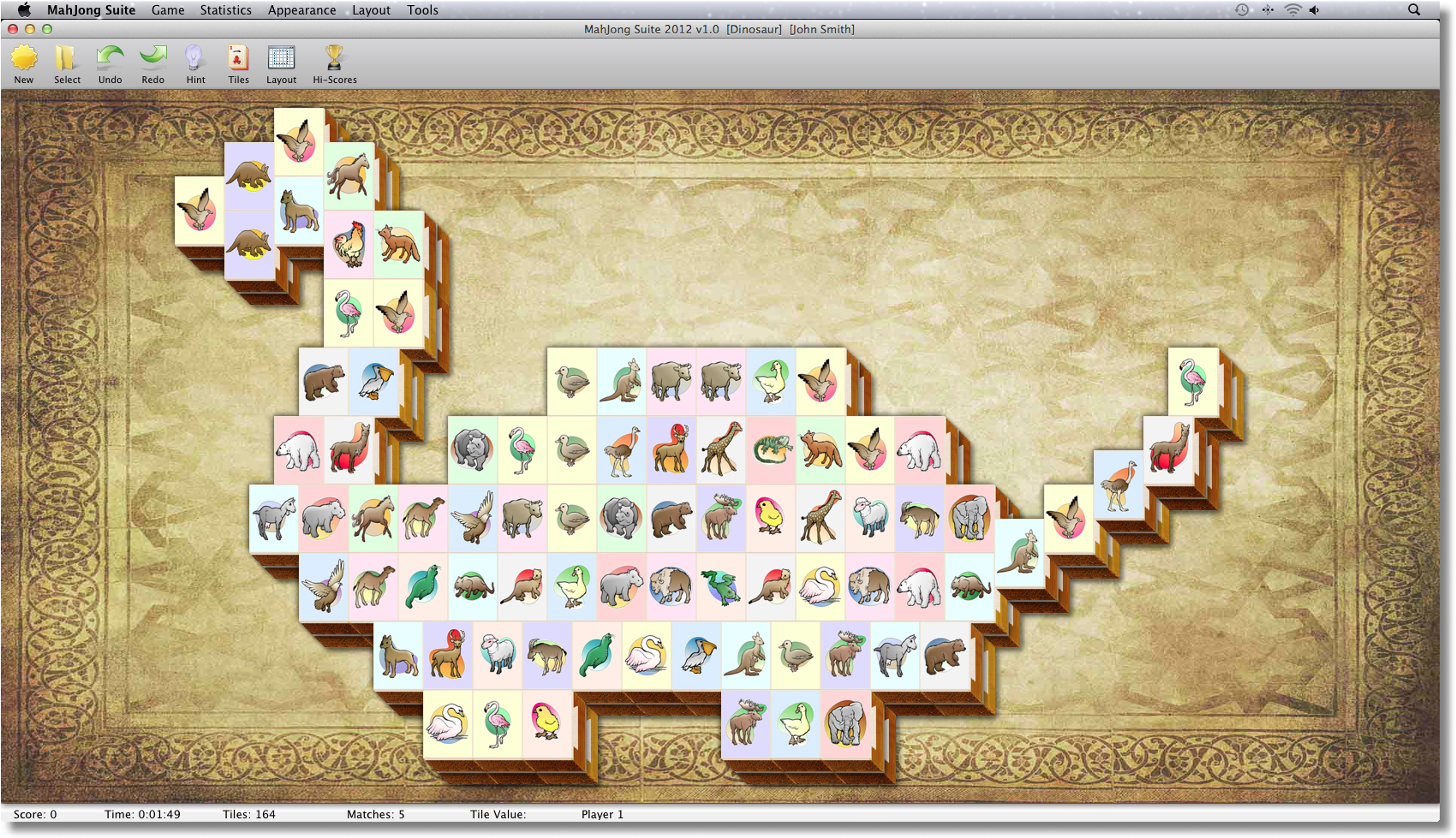 MahJong Suite 10.0. Скриншоты программы.