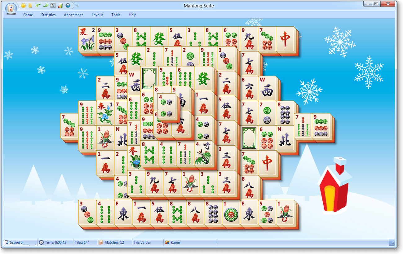 Christmas Mahjong.Mahjong Suite Christmas Skin Screenshot