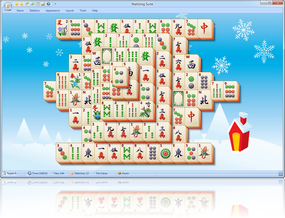 MahJong Suite 2017 Christmas Skin screenshot - Click here to enlarge