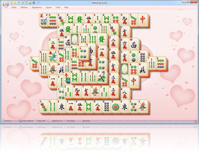 MahJong Suite 2018 Hearts Skin screenshot - Click here to enlarge