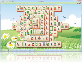 MahJong Suite 2018 Springtime Skin screenshot - Click here to enlarge