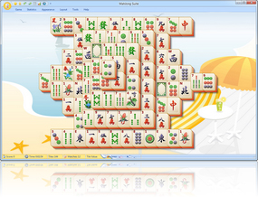 MahJong Suite 2018 Summertime Skin screenshot - Click here to enlarge